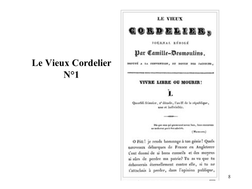 8 Le Vieux Cordelier N°1