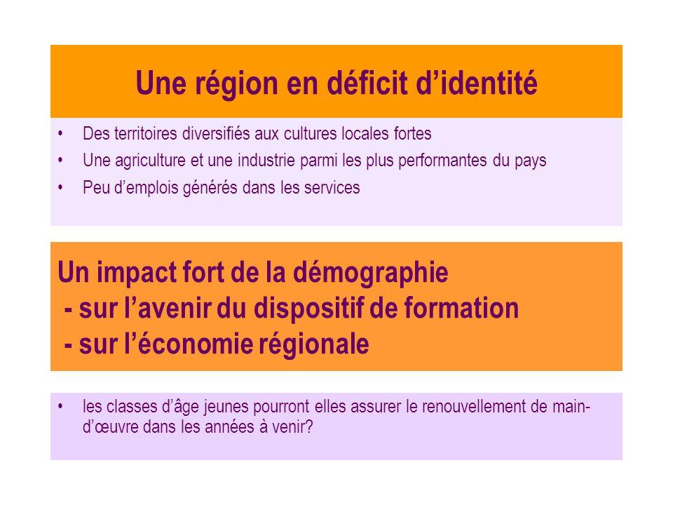 Une région en déficit didentité Des territoires diversifiés aux cultures locales fortes Une agriculture et une industrie parmi les plus performantes d