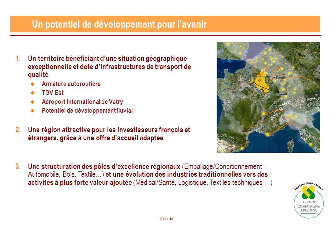 Page 10 1.Un territoire bénéficiant dune situation géographique exceptionnelle et doté dinfrastructures de transport de qualité Armature autoroutière