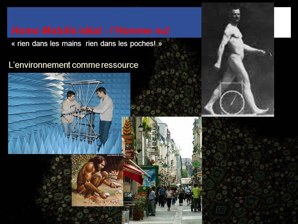 Homo Mobilis idéal : lHomme nu! « rien dans les mains rien dans les poches! » Lenvironnement comme ressource
