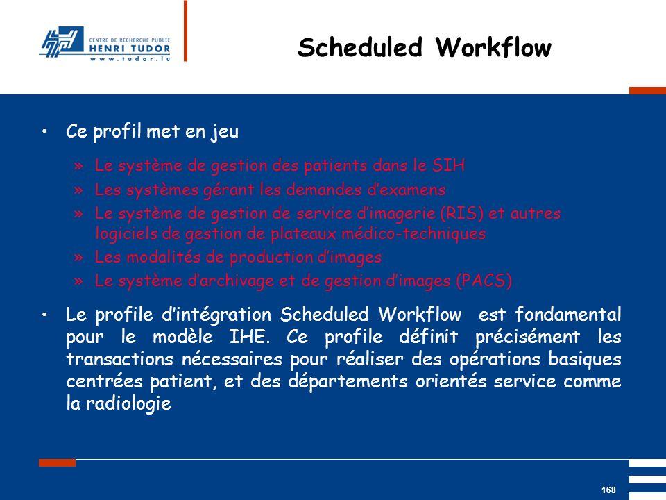 Mai 2004 UP2 GBM Nancy RIS/ PACS 168 Ce profil met en jeu »Le système de gestion des patients dans le SIH »Les systèmes gérant les demandes dexamens »