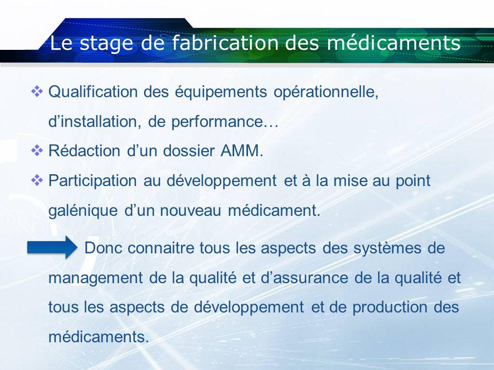 Qualification des équipements opérationnelle, dinstallation, de performance… Rédaction dun dossier AMM. Participation au développement et à la mise au