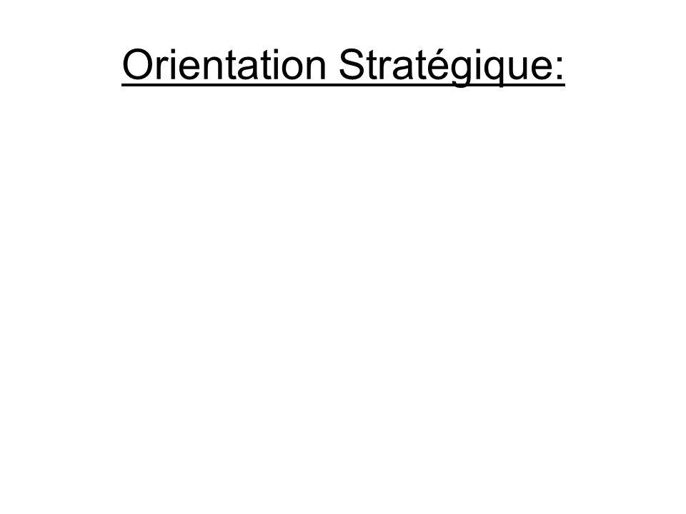 Orientation Stratégique:
