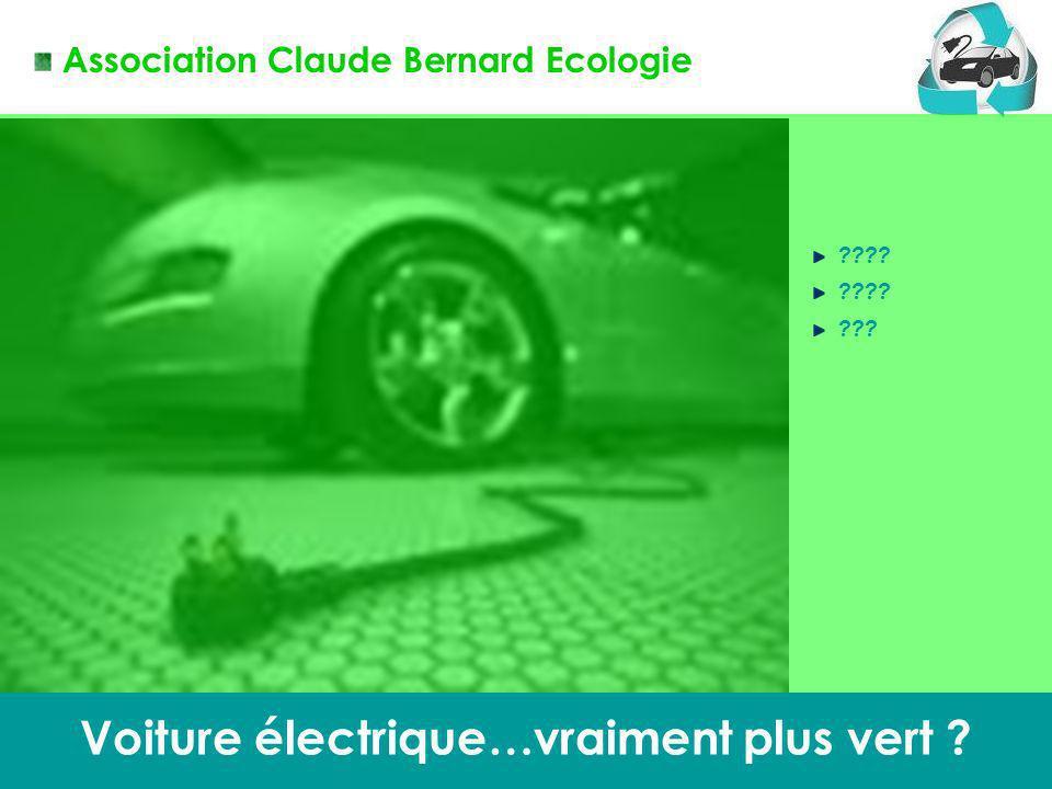 Claude Bernard Ecologie 1 Voiture électrique…vraiment plus vert ? ???? ??? Association Claude Bernard Ecologie