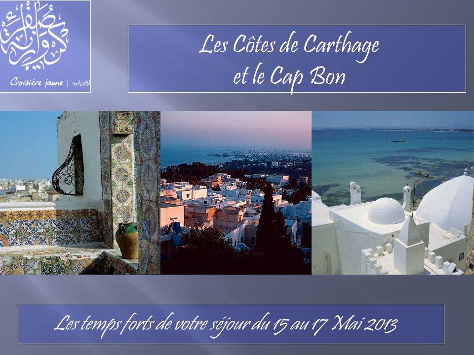 Les Côtes de Carthage et le Cap Bon Les temps forts de votre séjour du 15 au 17 Mai 2013