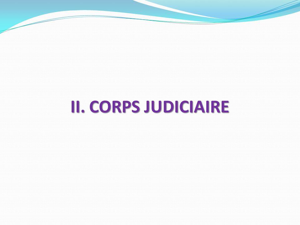 II. CORPS JUDICIAIRE