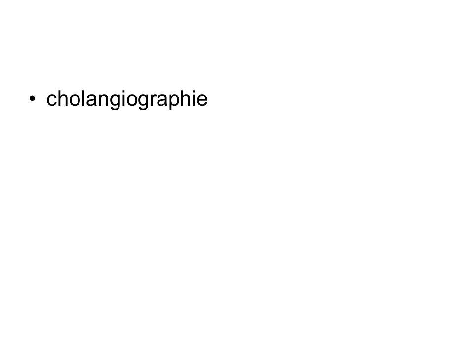 cholangiographie