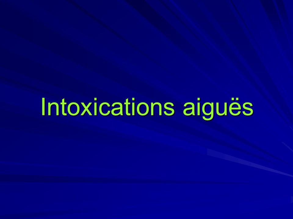 Intoxications aiguës