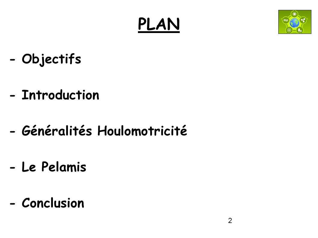 2 PLAN - Objectifs - Introduction - Généralités Houlomotricité - Le Pelamis - Conclusion
