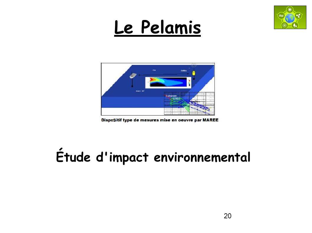 20 Le Pelamis Étude d'impact environnemental
