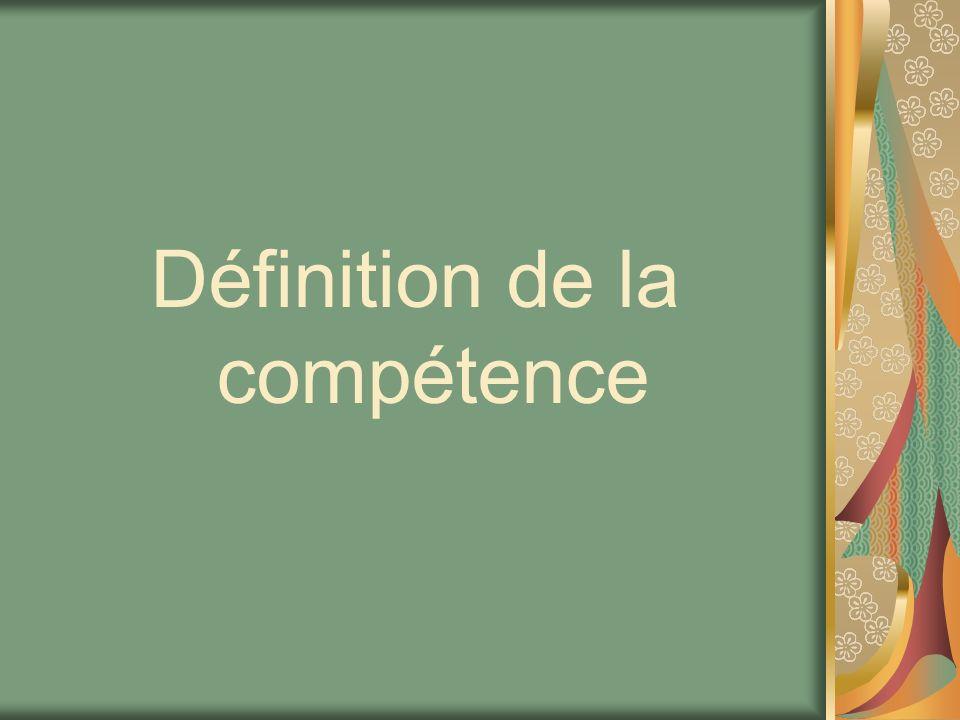 Définition de la compétence