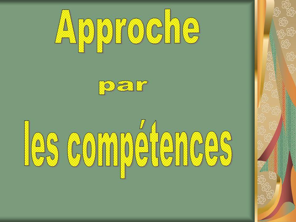 Objectifs de la formation Délimiter la notion de compétence.