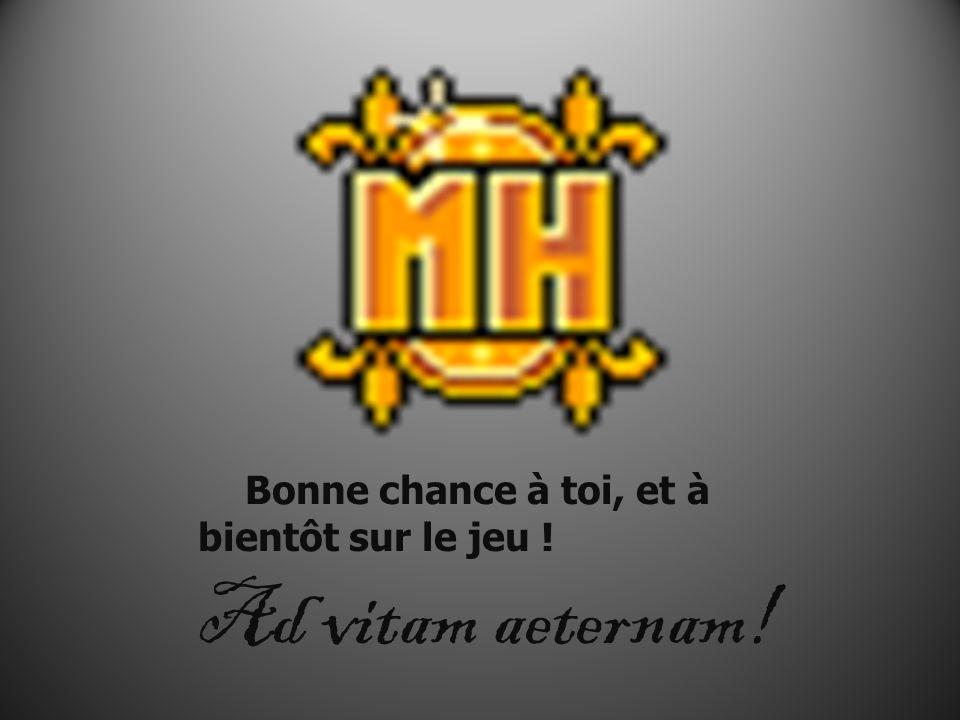 Bonne chance à toi, et à bientôt sur le jeu ! Ad vitam aeternam!