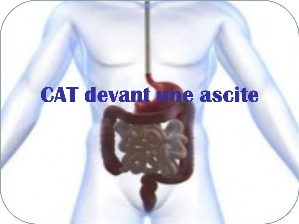 CAT devant une ascite