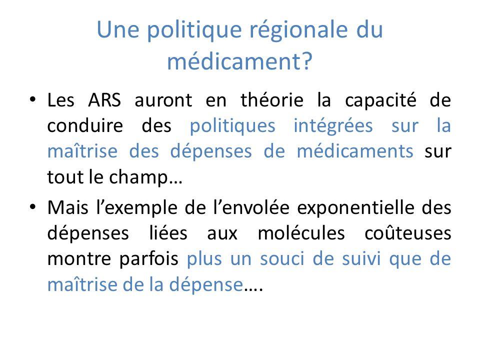 Une politique régionale du médicament.