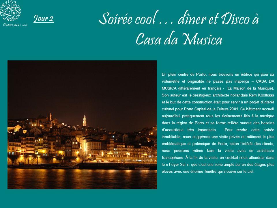 Jour 2 Soirée cool … dîner et Disco à Casa da Musica En plein centre de Porto, nous trouvons un édifice qui pour sa volumétrie et originalité ne passe