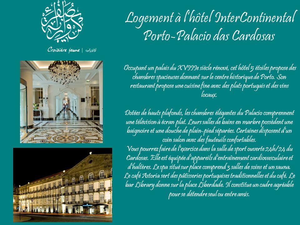 Logement à lhôtel InterContinental Porto-Palacio das Cardosas Occupant un palais du XVIIIe siècle rénové, cet hôtel 5 étoiles propose des chambres spa