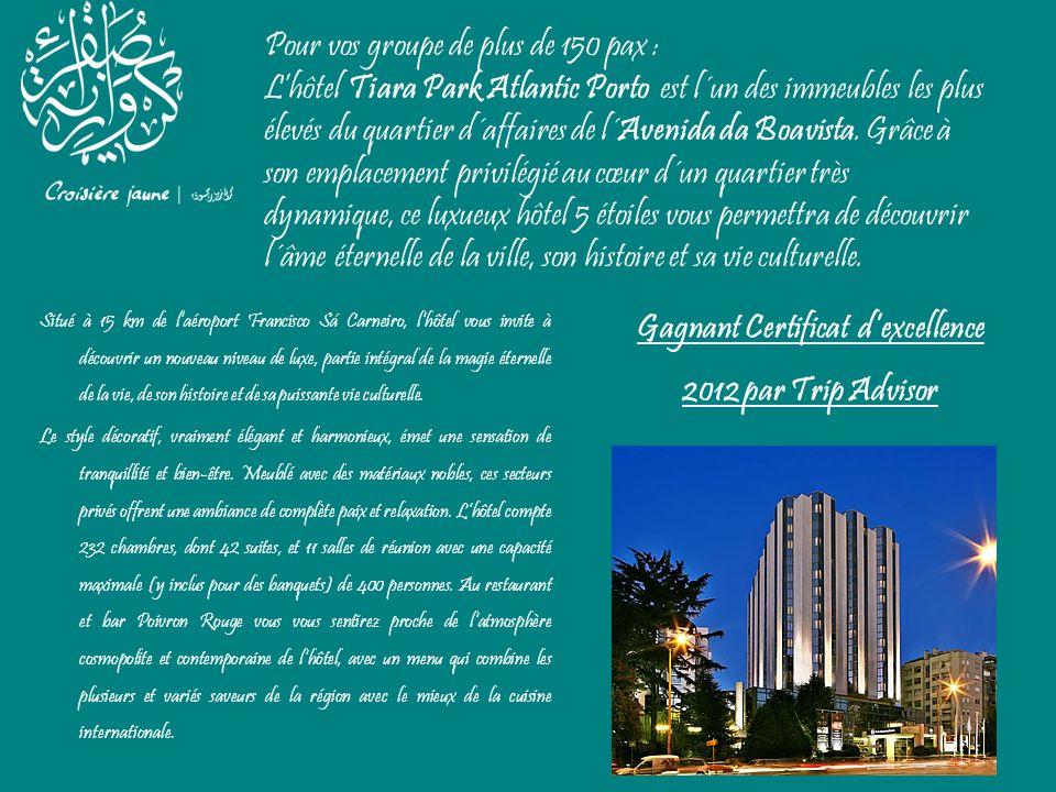 Pour vos groupe de plus de 150 pax : Lhôtel Tiara Park Atlantic Porto est l´un des immeubles les plus élevés du quartier d´affaires de l´Avenida da Bo