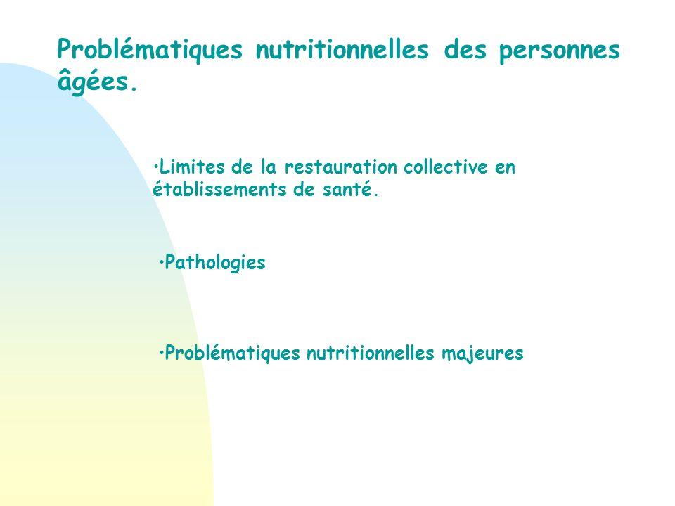 Problématique nutritionnelle des personnes âgées.