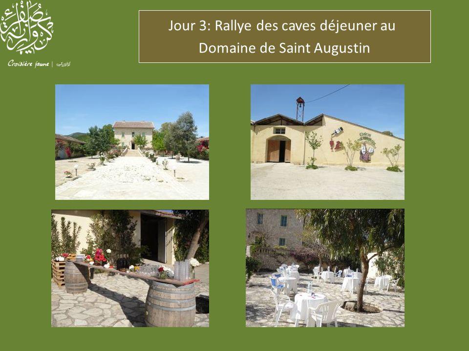 Jour 3: Rallye des caves déjeuner au Domaine de Saint Augustin