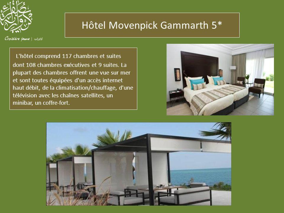 Hôtel Movenpick Gammarth 5* Un des restaurants, l HORIZON, sert tout au long de la journée une cuisine internationale.