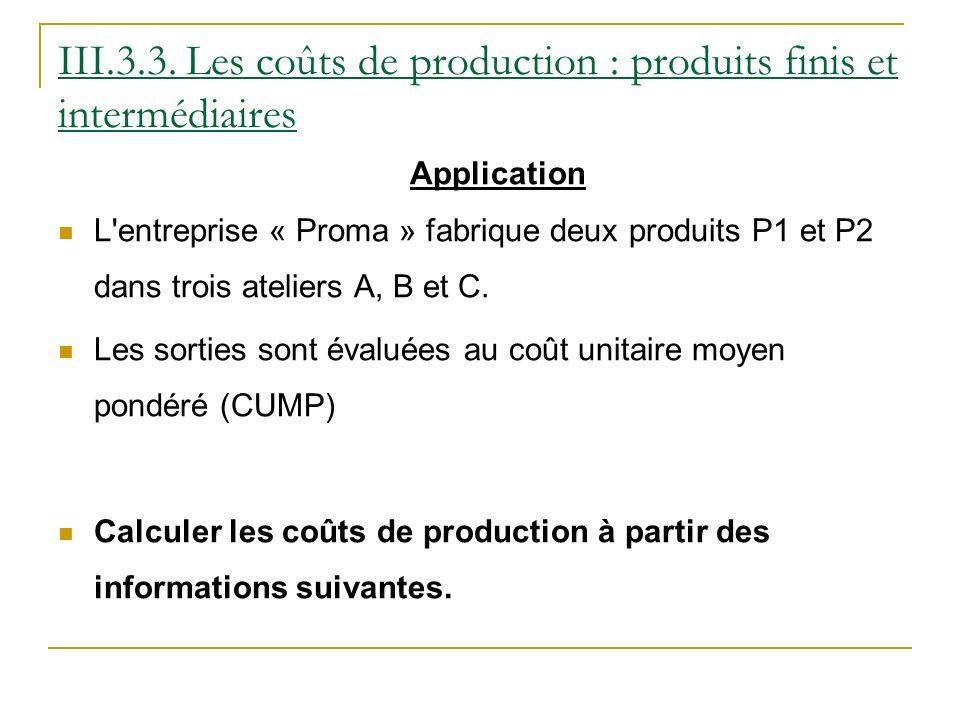 Application L entreprise « Proma » fabrique deux produits P1 et P2 dans trois ateliers A, B et C.