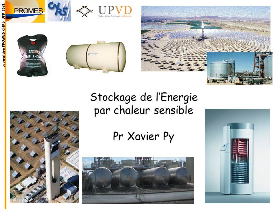 Stockage de lEnergie par chaleur sensible Pr Xavier Py Laboratoire PROMES CNRS UPR 8521