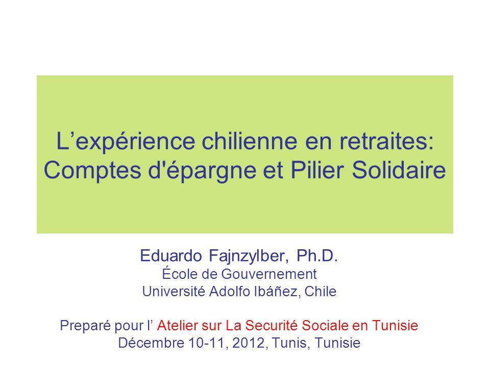 Lexpérience chilienne en retraites: Comptes d épargne et Pilier Solidaire Eduardo Fajnzylber, Ph.D.