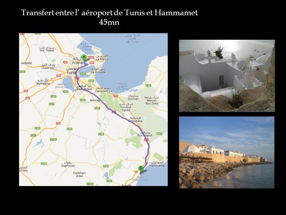 Transfert entre l aéroport de Tunis et Hammamet 45mn