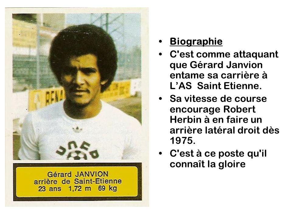Il est ensuite sélectionné en équipe de France, Janvion se retrouvant dès lors arrière gauche, barré par Battiston..