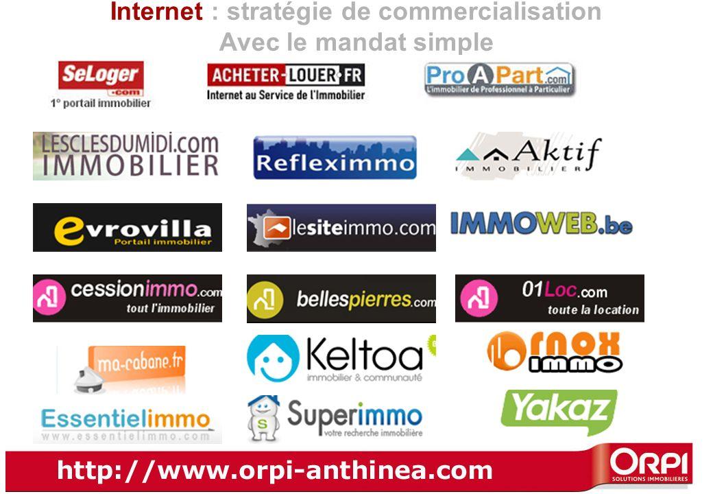 Internet : stratégie de commercialisation Avec le mandat simple