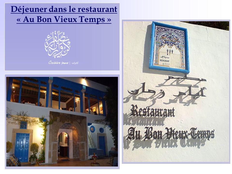 Déjeuner dans le restaurant « Au Bon Vieux Temps »