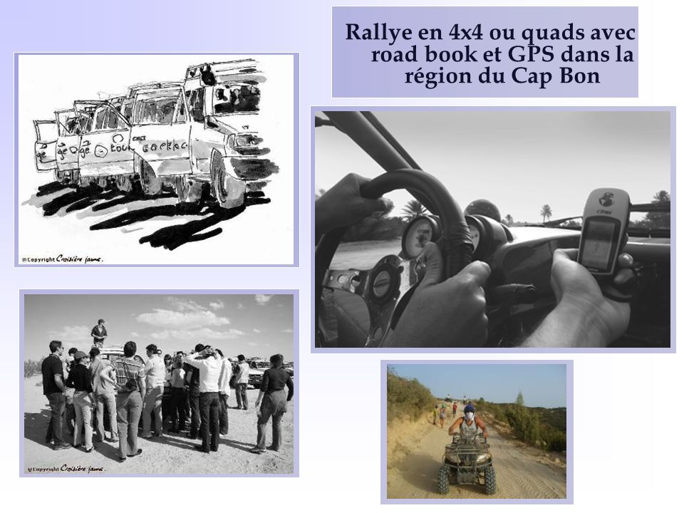 Rallye en 4x4 ou quads avec road book et GPS dans la région du Cap Bon