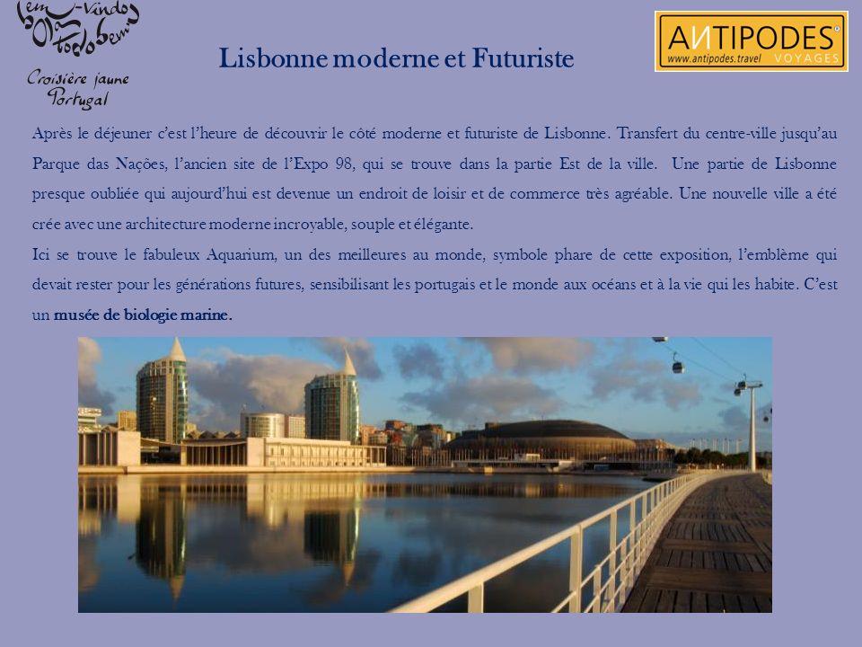 Après le déjeuner cest lheure de découvrir le côté moderne et futuriste de Lisbonne. Transfert du centre-ville jusquau Parque das Nações, lancien site