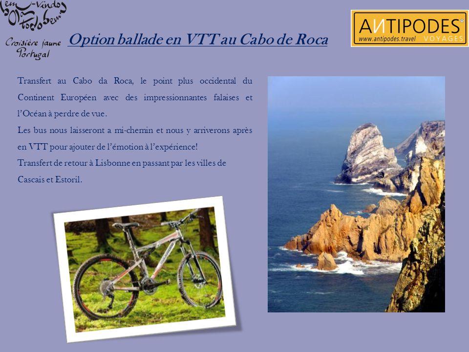 Transfert au Cabo da Roca, le point plus occidental du Continent Européen avec des impressionnantes falaises et lOcéan à perdre de vue. Les bus nous l