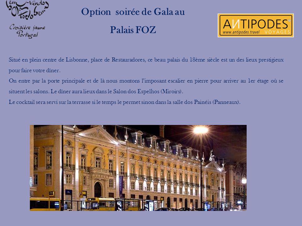 Situé en plein centre de Lisbonne, place de Restauradores, ce beau palais du 18ème siècle est un des lieux prestigieux pour faire votre dîner. On entr