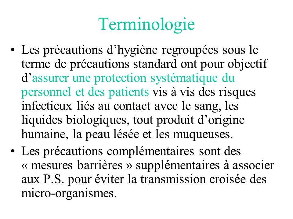 En cas daccident par exposition au sang ou à un liquide biologique : 1)Effectuer immédiatement un lavage simple (ou un rinçage abondant si projection sur les muqueuses) 2)Effectuer lantisepsie.