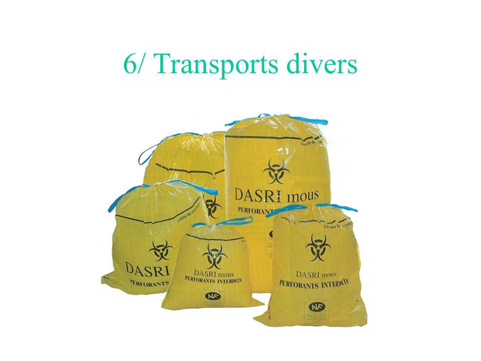 6/ Transports divers