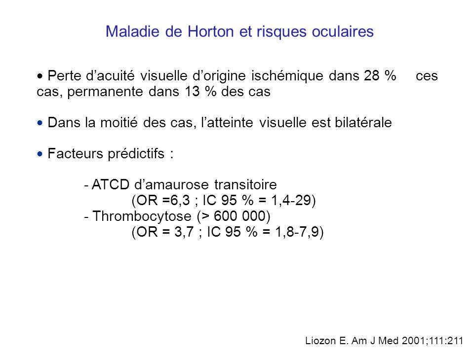 Maladie de Horton et risques oculaires Gonzalez-Gay et coll.