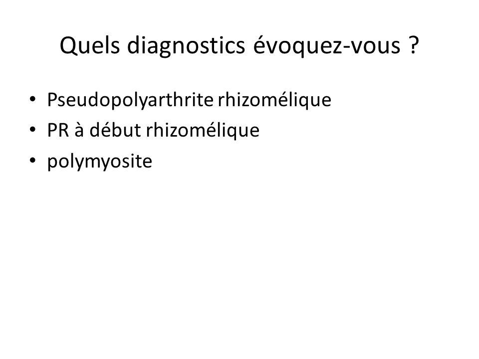 Question 1 : Quels examens peuvent apporter des arguments diagnostiques en faveur de la PPR.