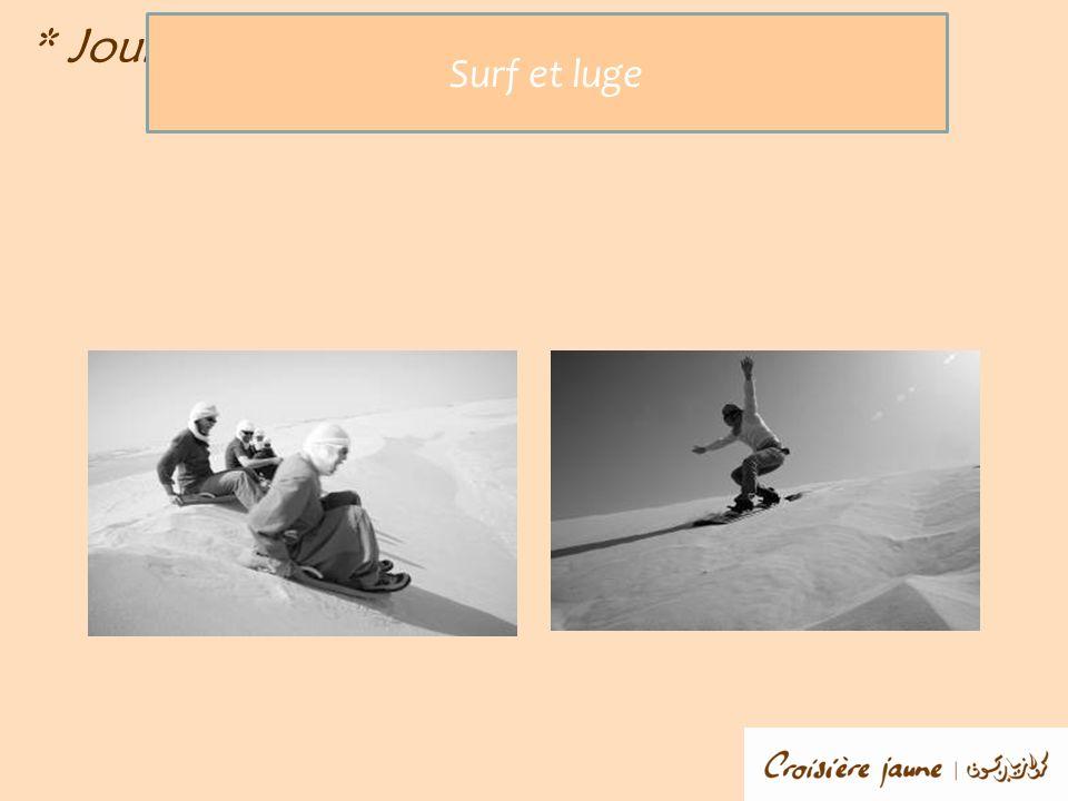 * Jour 1 * Surf et luge
