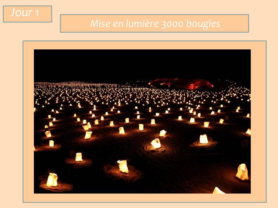 Mise en lumière 3000 bougies Jour 1