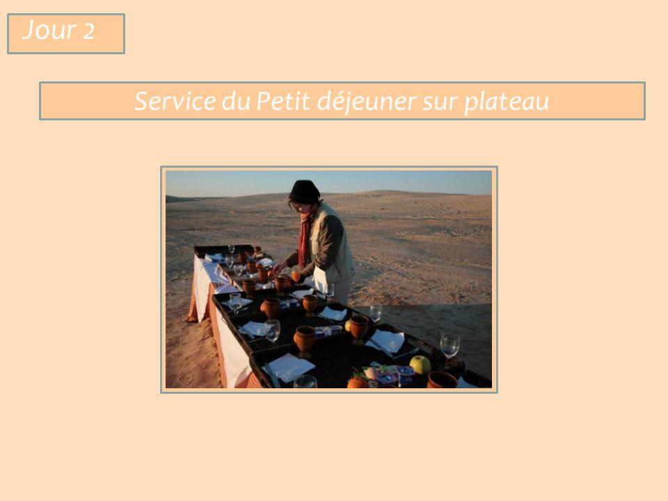 Service du Petit déjeuner sur plateau Jour 2