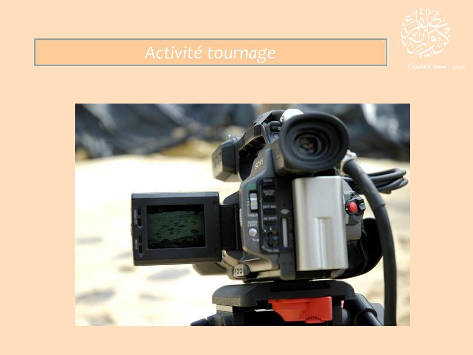 Activité tournage