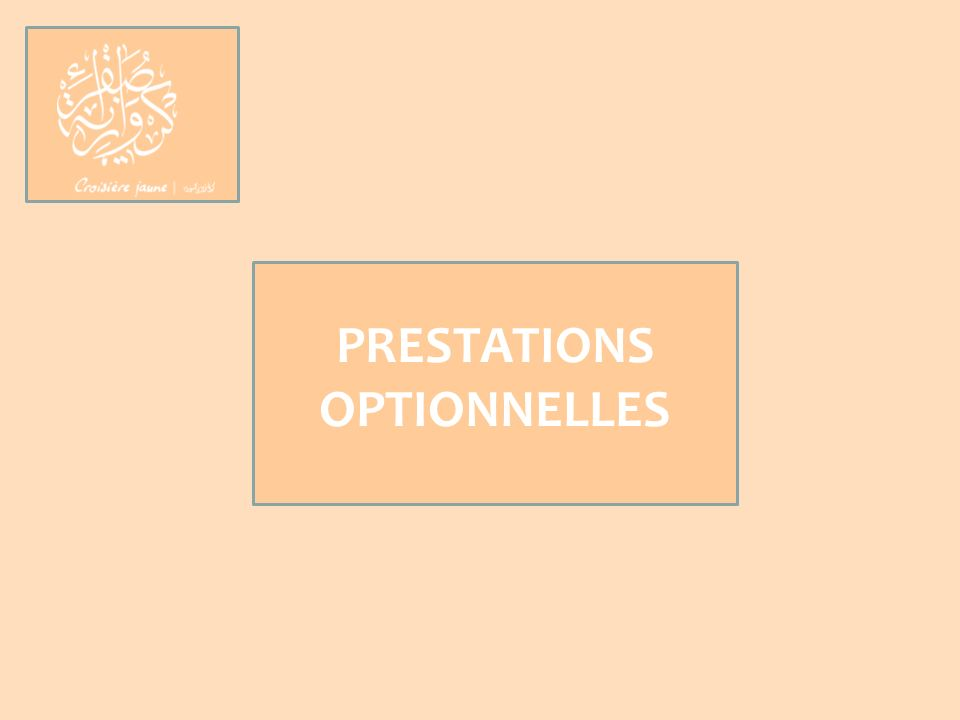 PRESTATIONS OPTIONNELLES