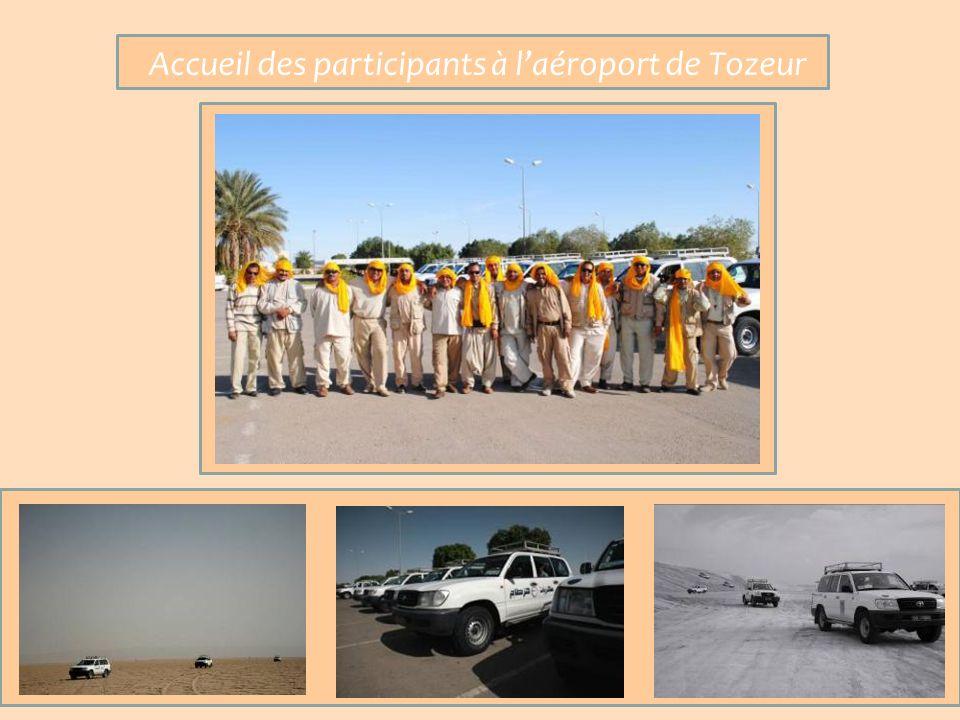 Accueil des participants à laéroport de Tozeur