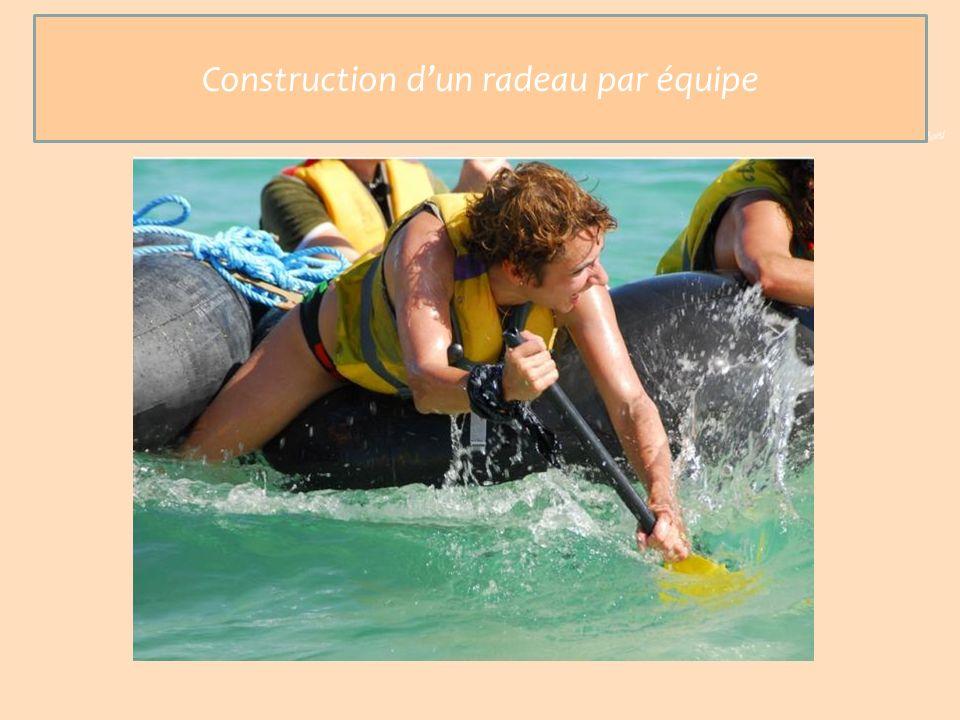 Mission : Construction dun radeau Construction dun radeau par équipe