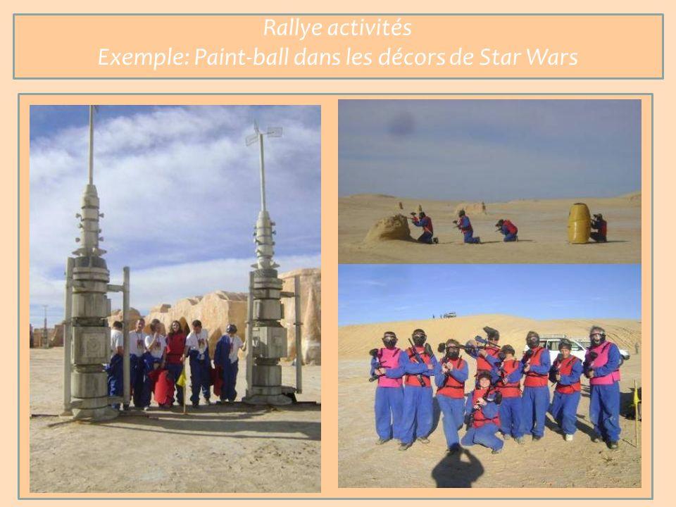 Rallye activités Exemple: Paint-ball dans les décors de Star Wars