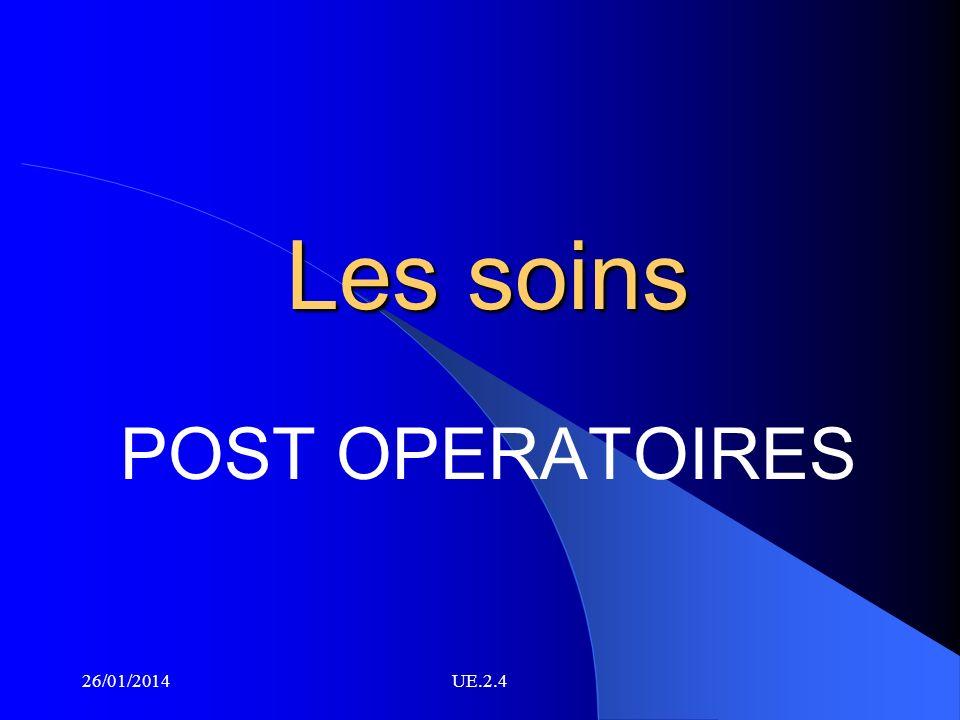 Les soins POST OPERATOIRES 26/01/2014UE.2.4