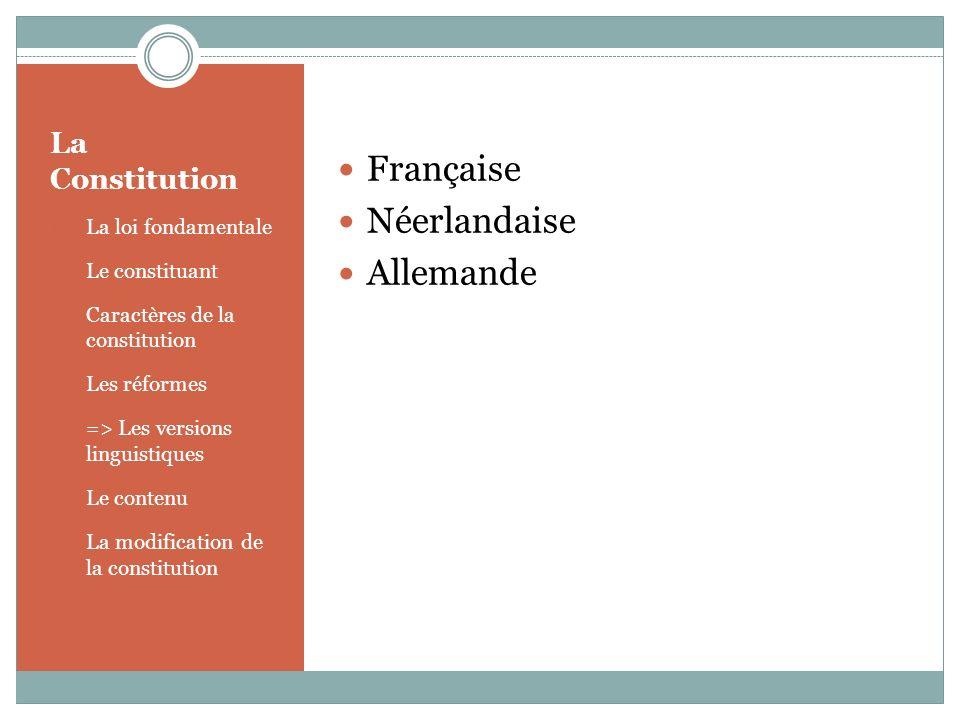 La Constitution 1.La loi fondamentale 2. Le constituant 3.